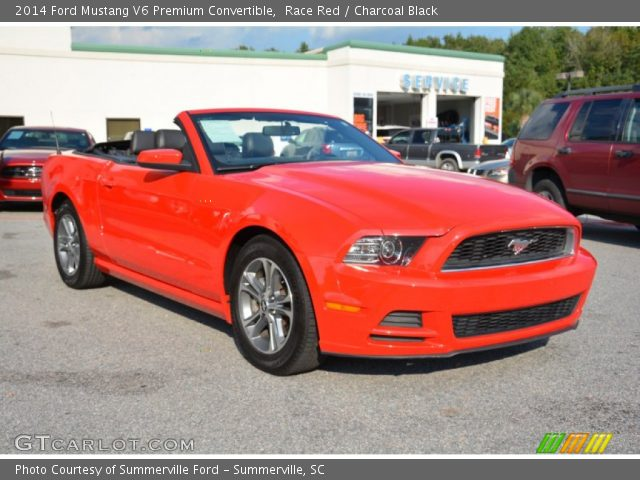 race red 2014 ford mustang v6 premium convertible charcoal black interior. Black Bedroom Furniture Sets. Home Design Ideas