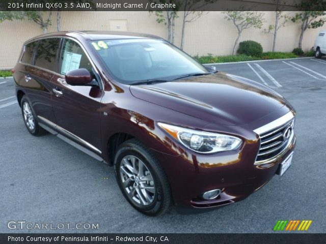 midnight garnet 2014 infiniti qx60 3 5 awd graphite. Black Bedroom Furniture Sets. Home Design Ideas