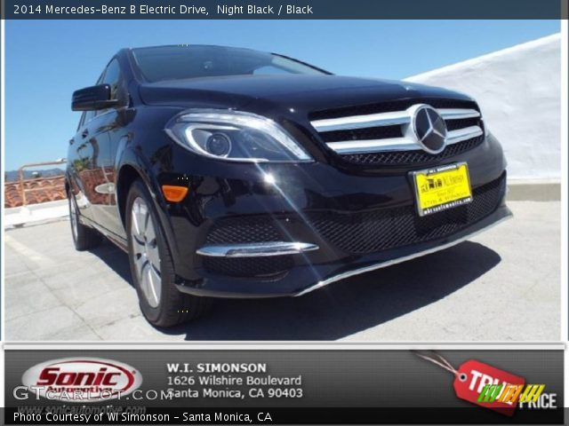 2014 Mercedes-Benz B Electric Drive in Night Black