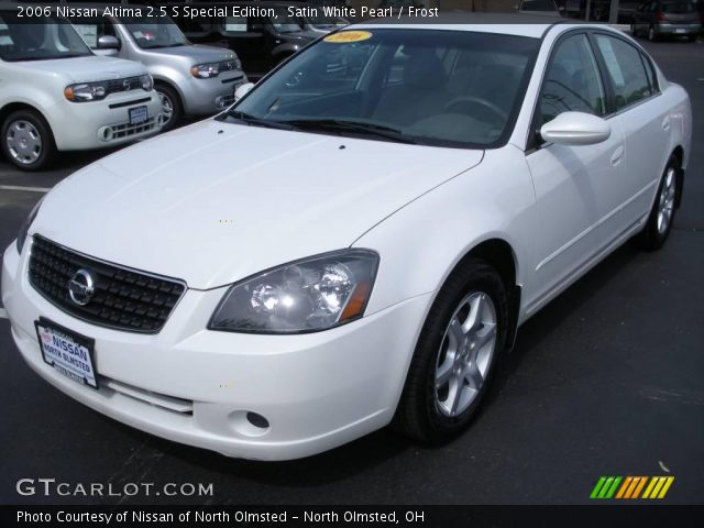 satin white pearl 2006 nissan altima 2 5 s special edition frost interior. Black Bedroom Furniture Sets. Home Design Ideas