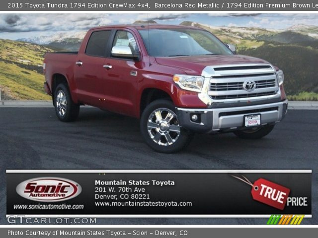 barcelona red metallic 2015 toyota tundra 1794 edition. Black Bedroom Furniture Sets. Home Design Ideas