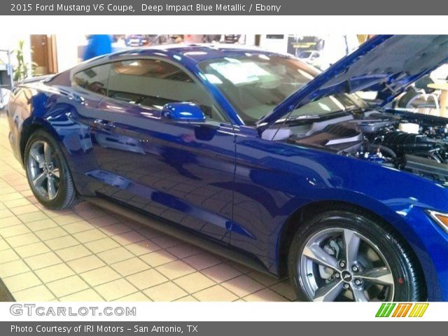 2015 ford mustang v6 coupe in deep impact blue metallic - 2015 Ford Mustang V6 Blue