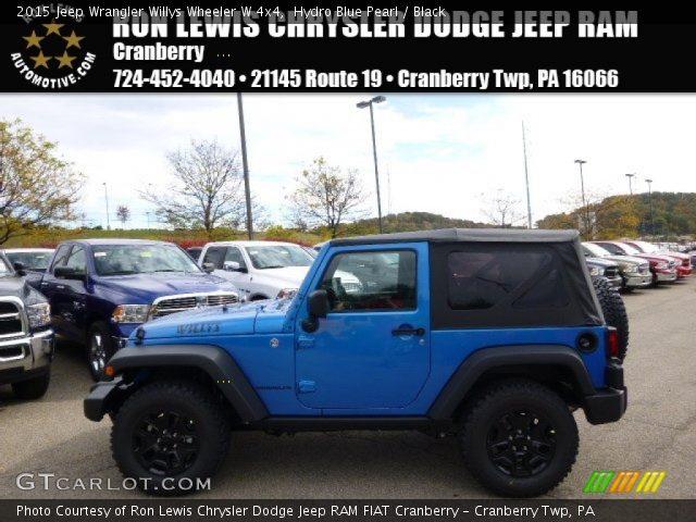 2015 Jeep Wrangler Willys Wheeler W 4x4 in Hydro Blue Pearl