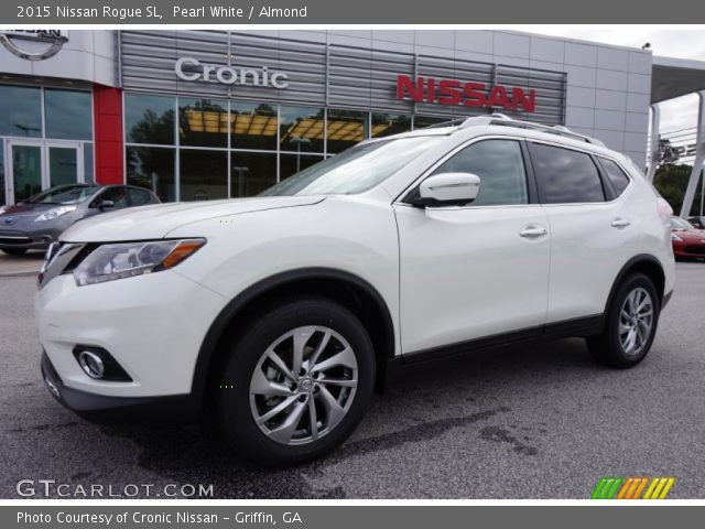 pearl white 2015 nissan rogue sl almond interior vehicle archive 98247641. Black Bedroom Furniture Sets. Home Design Ideas