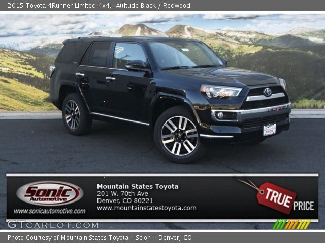 attitude black 2015 toyota 4runner limited 4x4 redwood interior vehicle. Black Bedroom Furniture Sets. Home Design Ideas