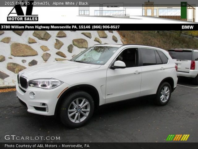 alpine white 2015 bmw x5 xdrive35i black interior vehicle archive 98426612. Black Bedroom Furniture Sets. Home Design Ideas