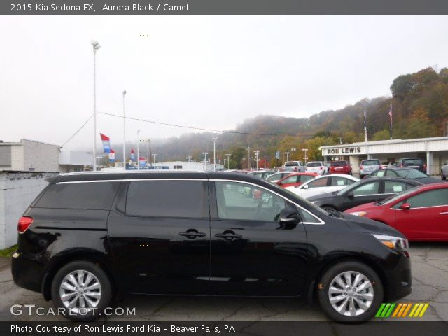 aurora black 2015 kia sedona ex camel interior. Black Bedroom Furniture Sets. Home Design Ideas