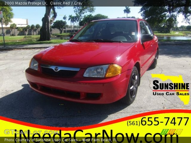 2000 Mazda Protege LX in Classic Red