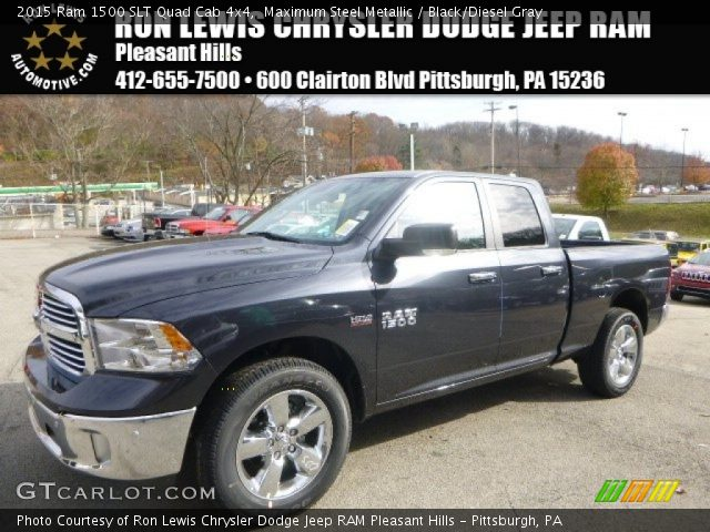 2015 Ram 1500 SLT Quad Cab 4x4 in Maximum Steel Metallic