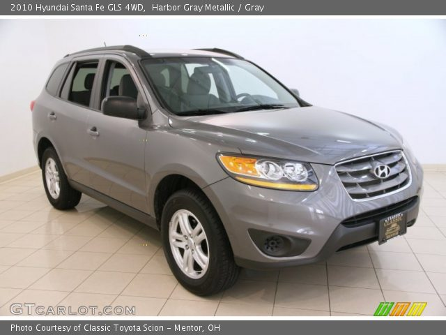 harbor gray metallic 2010 hyundai santa fe gls 4wd gray interior vehicle. Black Bedroom Furniture Sets. Home Design Ideas
