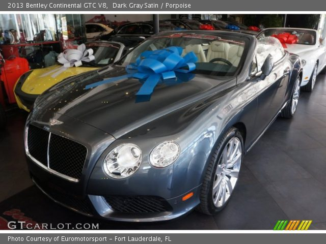 2013 Bentley Continental GTC V8  in Dark Gray Satin