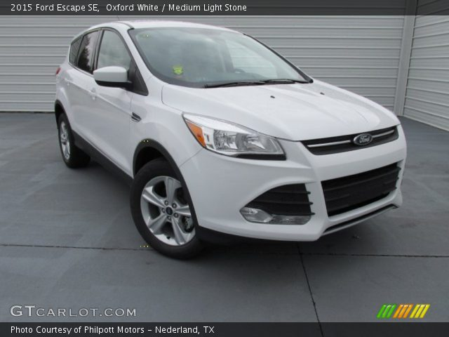 Oxford white 2015 ford escape se medium light stone for G stone motors used cars