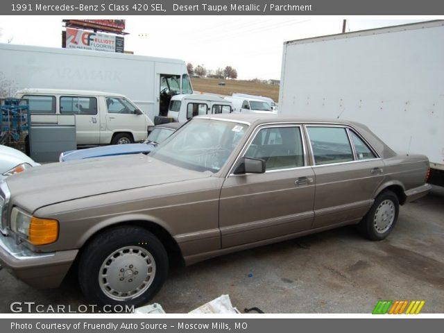 1991 Mercedes-Benz S Class 420 SEL in Desert Taupe Metallic