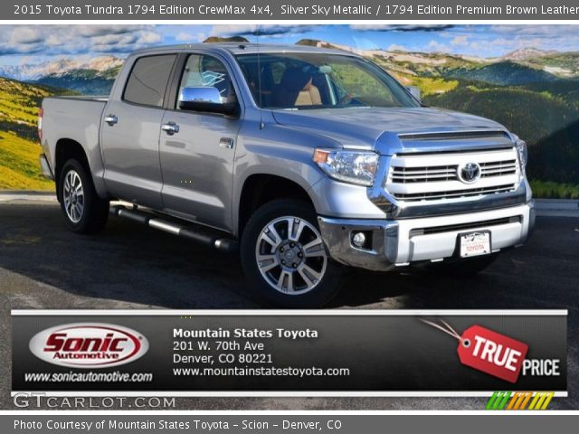silver sky metallic 2015 toyota tundra 1794 edition. Black Bedroom Furniture Sets. Home Design Ideas