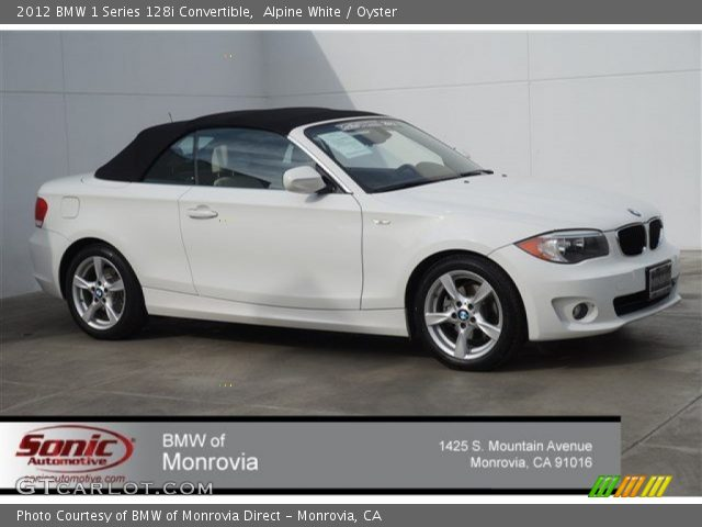 2012 BMW 1 Series 128i Convertible in Alpine White