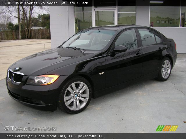 jet black 2006 bmw 3 series 325i sedan black interior. Black Bedroom Furniture Sets. Home Design Ideas