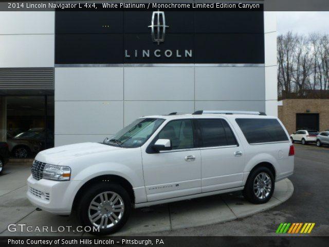 white platinum 2014 lincoln navigator l 4x4 monochrome