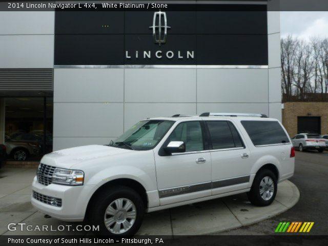 white platinum 2014 lincoln navigator l 4x4 stone