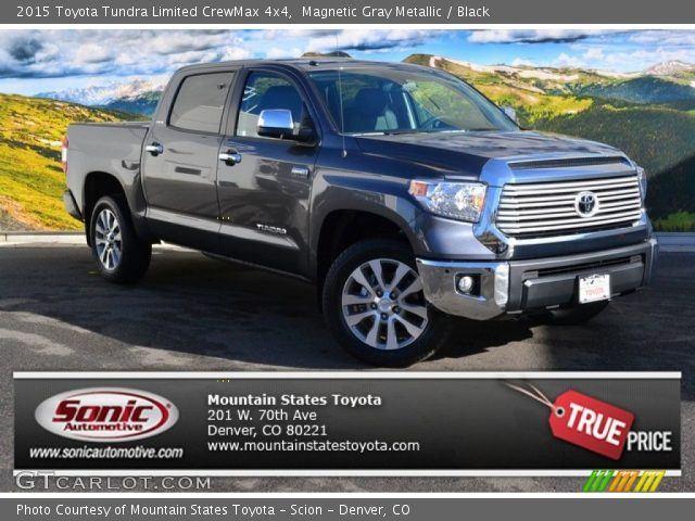 magnetic gray metallic 2015 toyota tundra limited crewmax 4x4 black interior. Black Bedroom Furniture Sets. Home Design Ideas