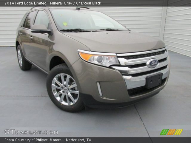 mineral gray 2014 ford edge limited charcoal black interior vehicle archive. Black Bedroom Furniture Sets. Home Design Ideas