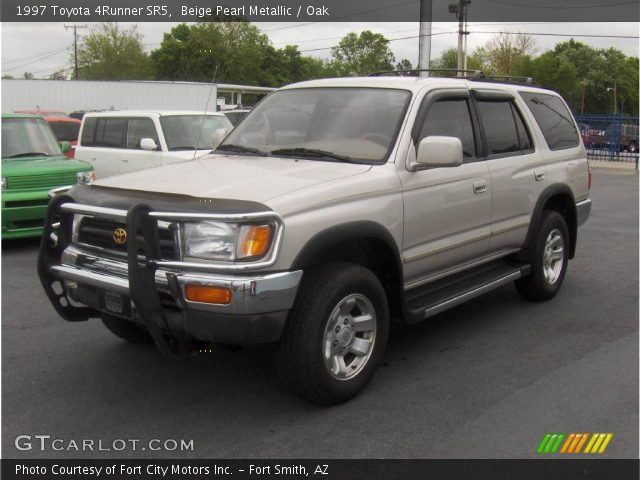 beige pearl metallic 1997 toyota 4runner sr5 oak interior vehicle archive. Black Bedroom Furniture Sets. Home Design Ideas