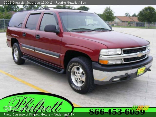 redfire metallic 2002 chevrolet suburban 1500 ls tan interior vehicle. Black Bedroom Furniture Sets. Home Design Ideas