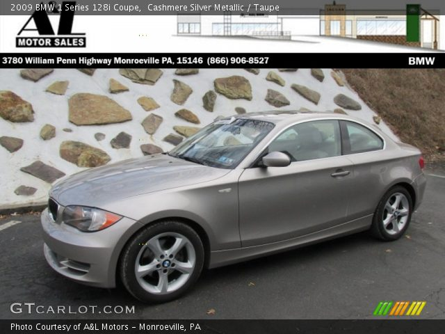 2009 BMW 1 Series 128i Coupe in Cashmere Silver Metallic