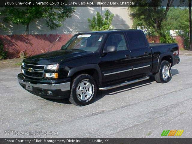 black 2006 chevrolet silverado 1500 z71 crew cab 4x4 dark charcoal interior. Black Bedroom Furniture Sets. Home Design Ideas