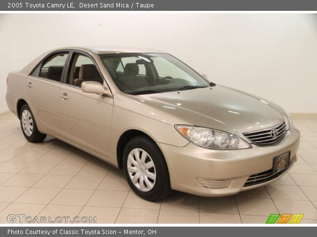 2005 Toyota Camry LE in Desert Sand Mica