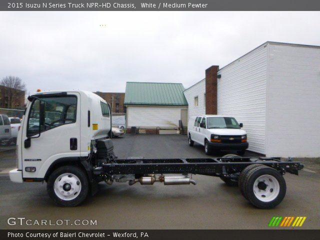 2015 Isuzu N Series Truck NPR-HD Chassis in White