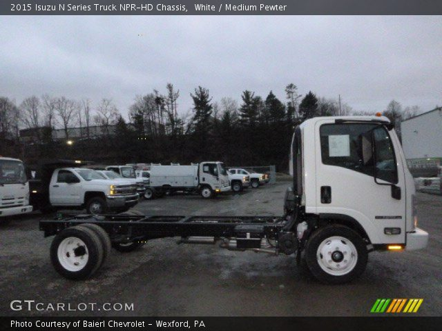 2015 Isuzu N Series Truck NPR-HD Chassis in White