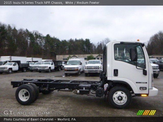 2015 Isuzu N Series Truck NPR Chassis in White
