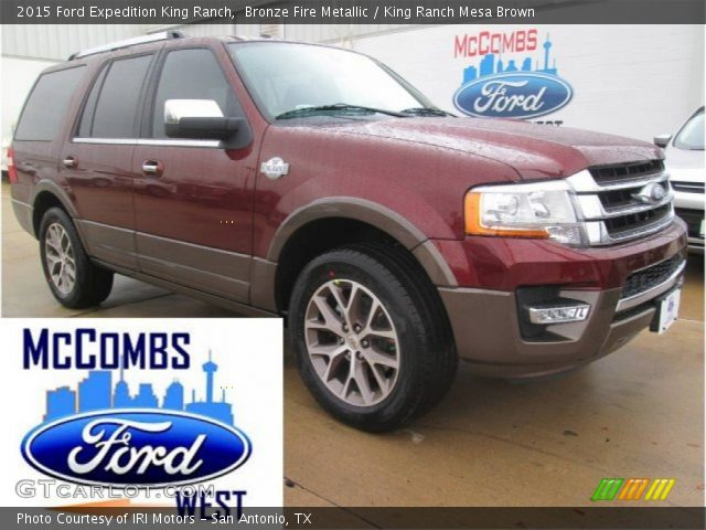 bronze fire metallic 2015 ford expedition king ranch king ranch mesa brown interior. Black Bedroom Furniture Sets. Home Design Ideas