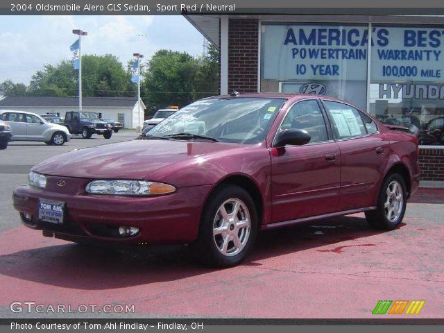 sport red 2004 oldsmobile alero gls sedan neutral. Black Bedroom Furniture Sets. Home Design Ideas