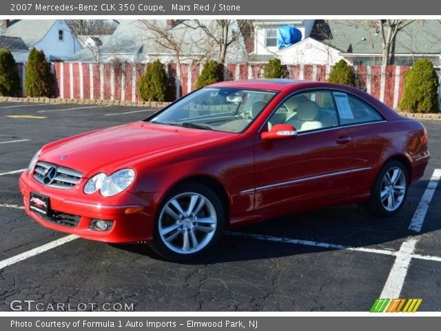 2007 Mercedes-Benz CLK 350 Coupe in Mars Red