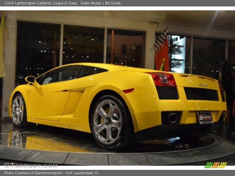 Giallo Midas / Blu Scylla 2004 Lamborghini Gallardo Coupe E-Gear