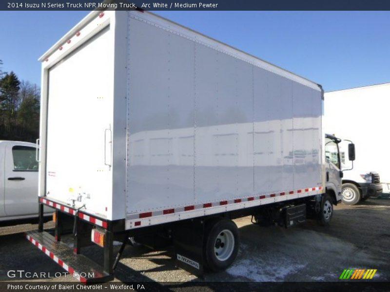 Arc White / Medium Pewter 2014 Isuzu N Series Truck NPR Moving Truck