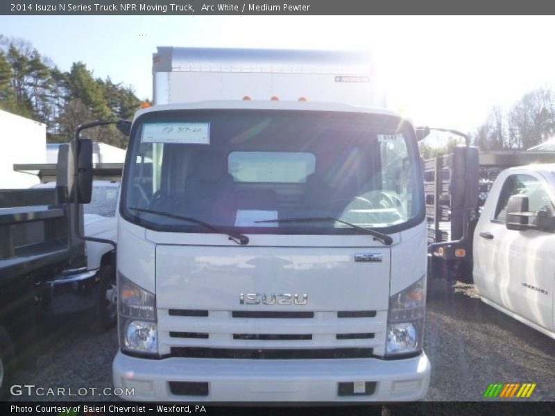 Arc White / Medium Pewter 2014 Isuzu N Series Truck NPR Moving Truck