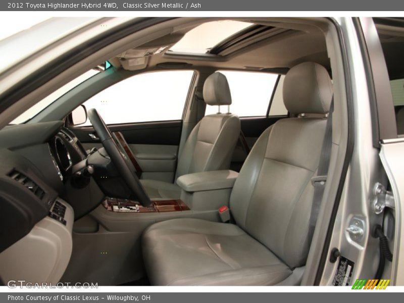 2012 Highlander Hybrid 4wd Ash Interior Photo No 100543892