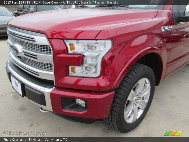 Ruby Red Metallic / Platinum Brunello 2015 Ford F150 King Ranch SuperCrew 4x4