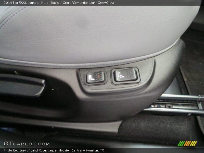 Nero (Black) / Grigio/Cementite (Light Grey/Grey) 2014 Fiat 500L Lounge