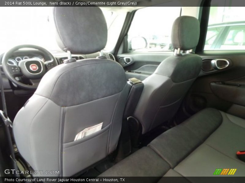 Nero (Black) / Grigio/Cementite (Light Grey/Grey) 2014 Fiat 500L Lounge