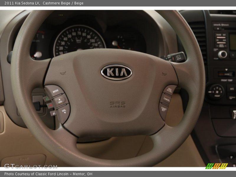 2011 Sedona LX Steering Wheel
