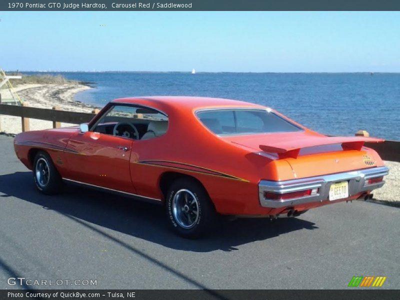 Carousel Red / Saddlewood 1970 Pontiac GTO Judge Hardtop