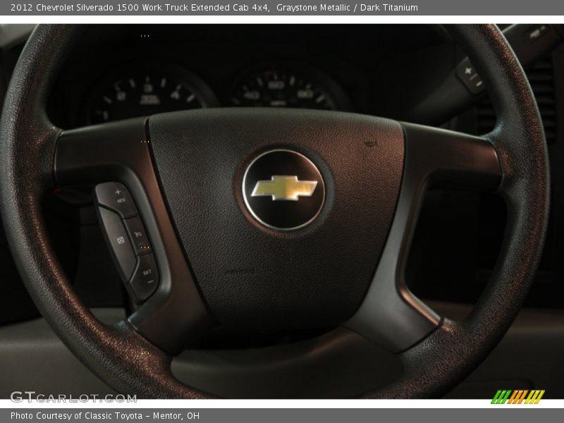 Graystone Metallic / Dark Titanium 2012 Chevrolet Silverado 1500 Work Truck Extended Cab 4x4