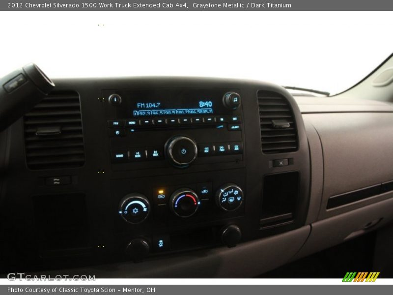 Controls of 2012 Silverado 1500 Work Truck Extended Cab 4x4