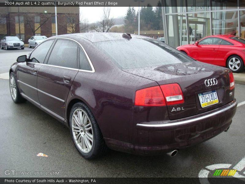 2004 Audi A8 L 4 2 Quattro In Burgundy Red Pearl Effect