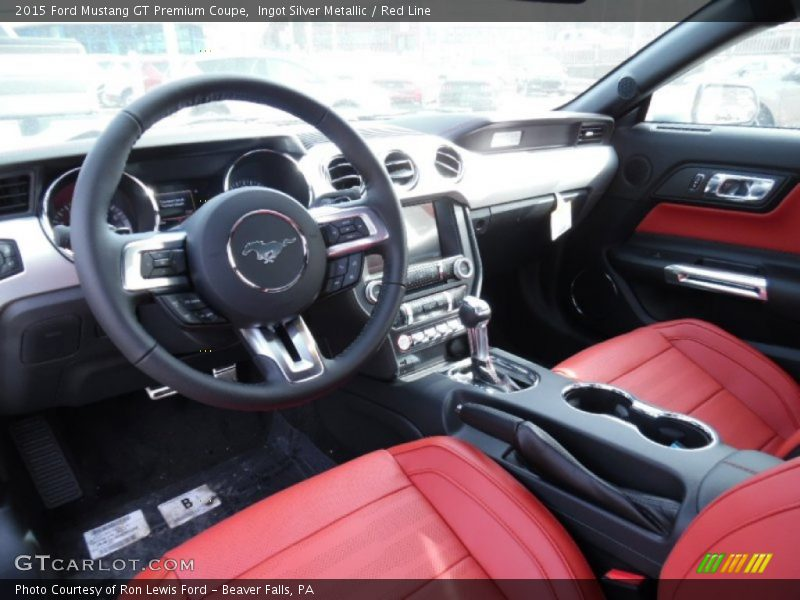 Red line interior 2015 mustang gt premium coupe photo no 102365507 for 2015 mustang interior dimensions