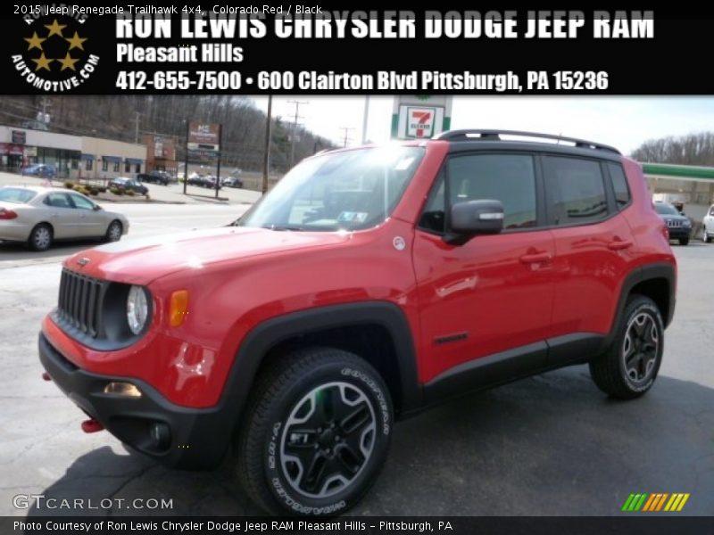 Colorado Red / Black 2015 Jeep Renegade Trailhawk 4x4