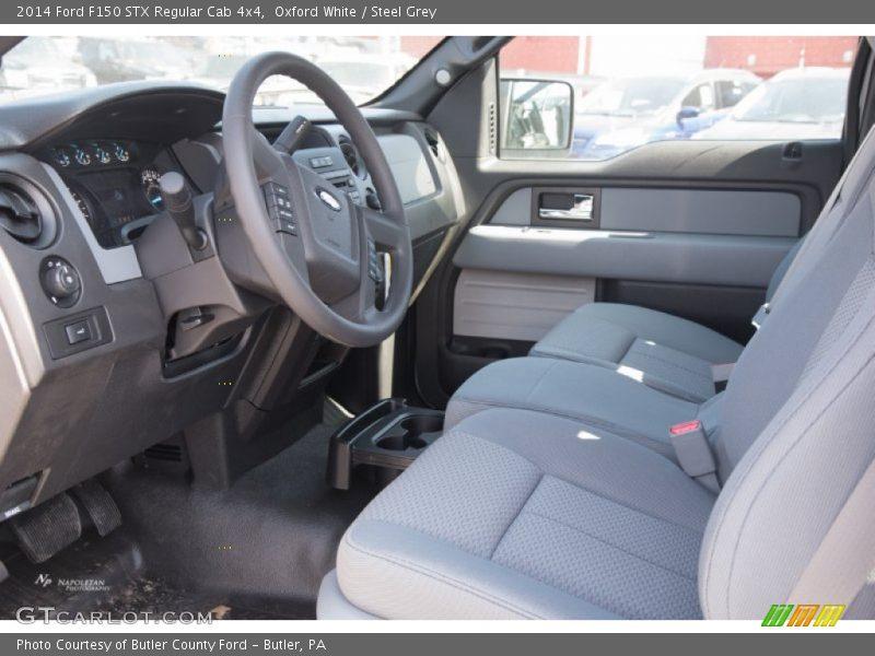 2014 F150 STX Regular Cab 4x4 Steel Grey Interior